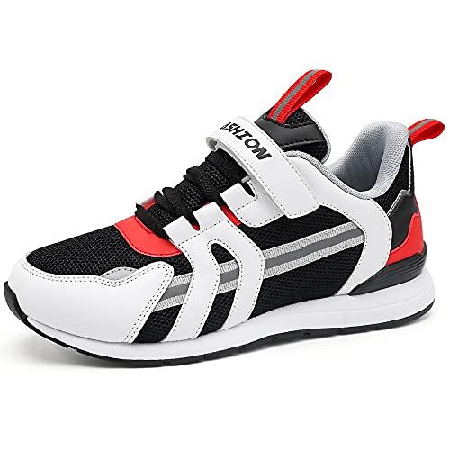 Zapatillas de Deporte para de Las Muchachas Aire Zapatos para niño Casual Running Sneakers Unisex Niños(K Rojo,28EU)