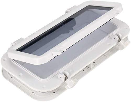 TXYFYP Bateau Rectangle Hublot, Océan Bateau Yacht Fenêtre Rectangulaire Hublot Imperméable UV Protection RV Accessoires Rectangulaire Hublot Skylight - Blanc, Free Size