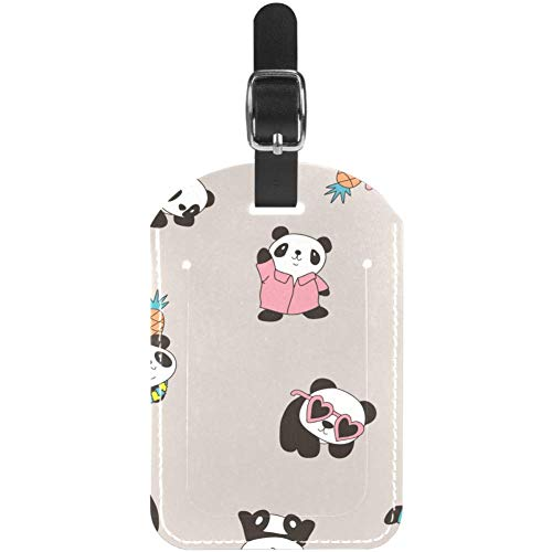 Etiquetas de Equipaje de Piel de Oso Panda para Maleta de Viaje, 1 Paquete