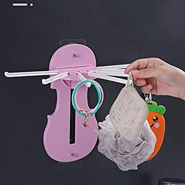 SHOPO (LABEL) Plastic Foldable Clothes Drying and Hanging Hanger Rail/Indoor Multiple Clothes, Random Colour