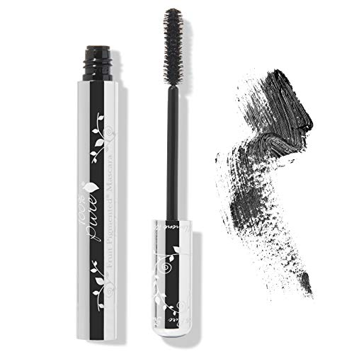 100% PURE Fruit Pigmented Ultra Lengthening Mascara, Black Tea, 0.35oz, Black Mascara for Natural Lash Extension, Smudge-Proof Mascara for strengthening, thickening and lengthening - Black