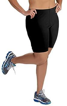 Women s Plus Size Cotton Bike Shorts - Black - 2X