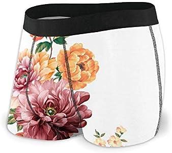 Web--ster Las Flores están llenas de Ropa Interior Masculina románica, Ropa Interior de ángulo Plano, cinturón Boxer Transpirable con Cinturilla expuesta MBF-044 Talla L