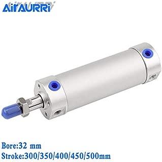 Fevas Round Cylinder 32mm bore 300/350/400/450/500mm Stroke CG1BN Rubber Bumper / CG1BA air Cushion Pneumatic Telescopic Cylinder - (Color: CG1BA32-500)