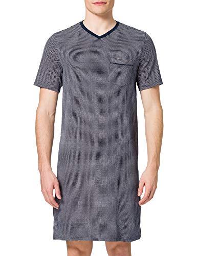 Schiesser Herren Nachthemd kurzarm, Nachtblau, X-Large