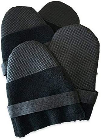 Muttluks Hott Doggers Lightweight Fleece 3 75 Inch to 4 25 Inch Dog Boots Large Black Set of product image