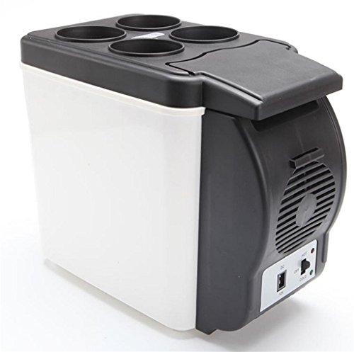 Autoinbox Auto-Kühlschrank, 12 V, Camping, tragbarer Reise-Kühlschrank, Kühler, Wärmer, Heizung, multifunktional, elektrischer Kühlschrank, Mini-Kühlschrank, Kühlbox (6L)