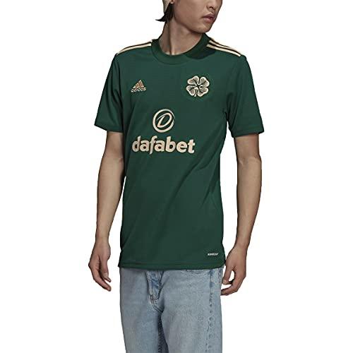 adidas Men's Celtic FC 2021-22 Away Jersey (Medium, Team Dark Green)
