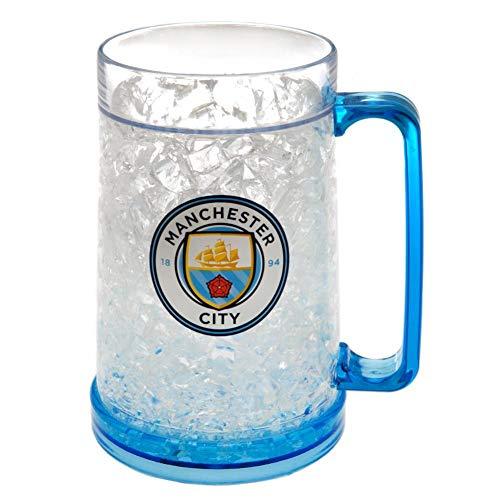 Manchester City FC - Jarra de cerveza oficial para congelador (Talla Única) (Azul)