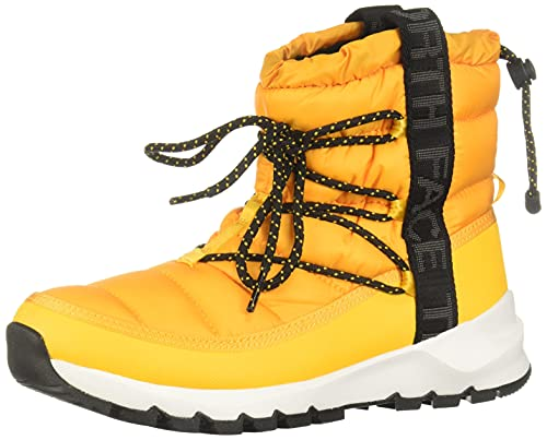 The North Face Mujer Zapatos Thermoball Lace Up, Summit Gold/TNF Black, 7 US