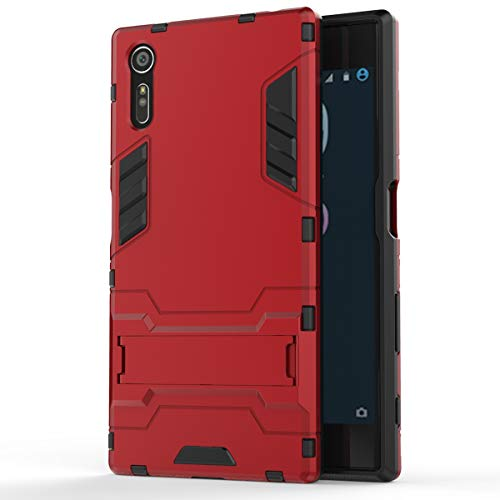 Sony Xperia XZ Case, Cocomii Iron Man Armor New [Heavy Duty] Premium Tactical Grip Kickstand Shockproof Hard Bumper Shell [Military Defender] Full Body Dual Layer Rugged Cover (Red)