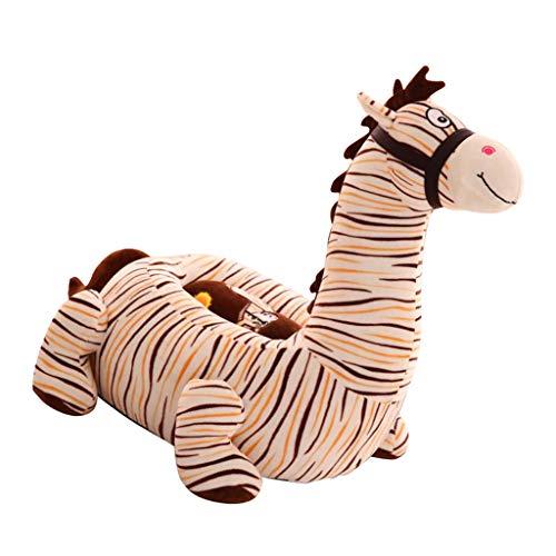 Fenteer Kinder Tiere Sitzsackhülle Sitzsack Sitzkissen Sitzsäcke Hülle Bezug - Zebra (Beige)