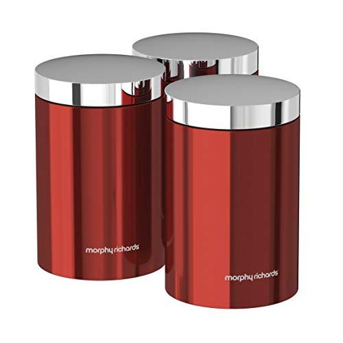 Morphy Richards 974069–Set di 3barattoli, colore: Rosso
