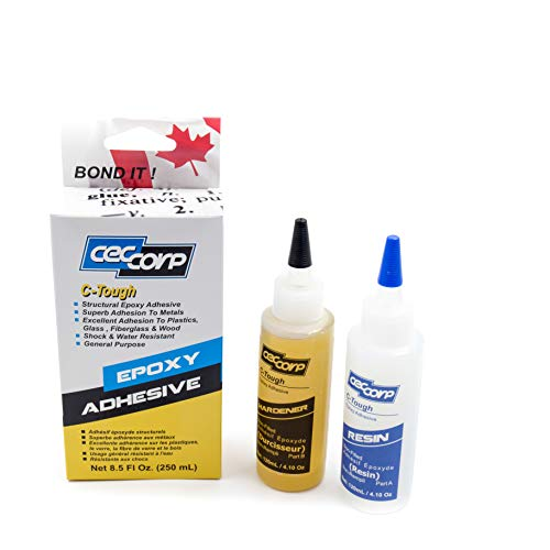 Epoxy Adhesive C-Tough by CECCORP is a 8.5 oz Two Part high Performance Extremely Tough/Flexible epoxy Glue Provides Superb Adhesion to substrates Such as Metals,Glass,Fiberglass,Masonry,Wood,Stones