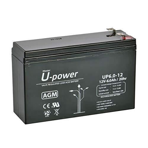 Master U-Power UP - Batería Plomo AGM 6Ah 12V