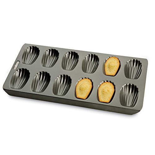 Kitchen Craft Chicago Metallic Professional Antihaft 12-Hole Madeleine, grau, Blech, 40 x 19 cm