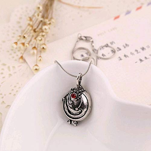 XINGPENGME Iparam New Retro Fashion Necklace & Pendant Necklace Vampire Diary Elena Gilbert Verne Prairie Chain (Metal color : Antique silver)