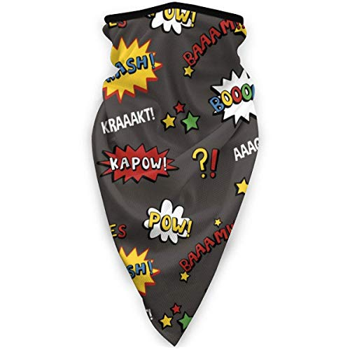 NA Masque de ski et de moto coupe-vent Taille unique Superhero coloré et amusant.