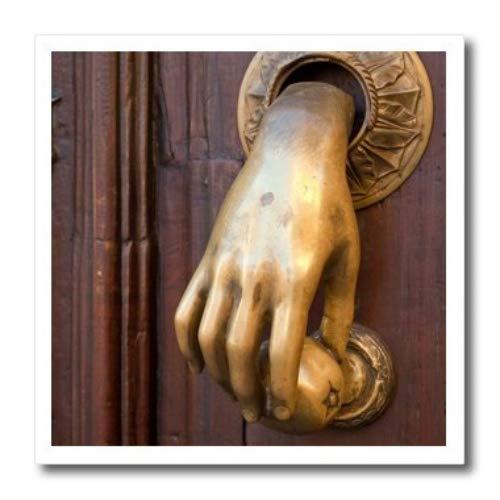 3dRose Mexiko, San Miguel de Allende. Detail Eine Tür & Türklopfer.–Eisen auf Wärmeübertragung, 10von 25,4cm, für weiß Material (HT 188396_ 3)