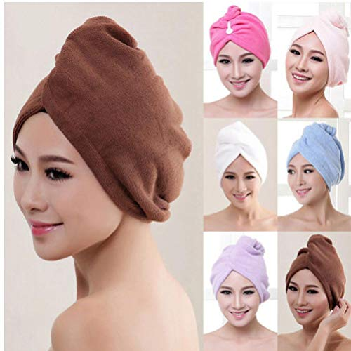 Gamloious Superabsorbants Cheveux sèche-Serviettes Turban Bonnet de Bain Peignoir Hat Head Wrap