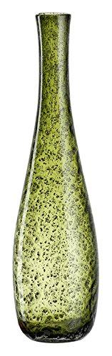 Leonardo Giardino Glas-Vase, handgefertigte Deko-Vase in Grün, bauchige Blumen-Vase, Höhe: 400 mm, 034907