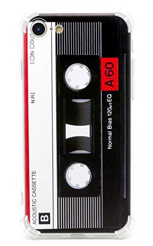 TNCYOLL iPhone SE 2020 Hülle Musik Kassetten Tape Retro Vintage 80S Stoßfest Bumper Handyhülle Kompatibel mit Apple iPhone SE 2020/iPhone 7 Hülle/iPhone 8 Hülle (Band)