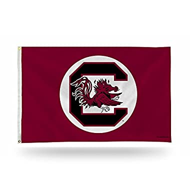 Rico Industries NCAA South Carolina Gamecocks 3-Foot by 5-Foot Single Sided Banner Flag with Grommets