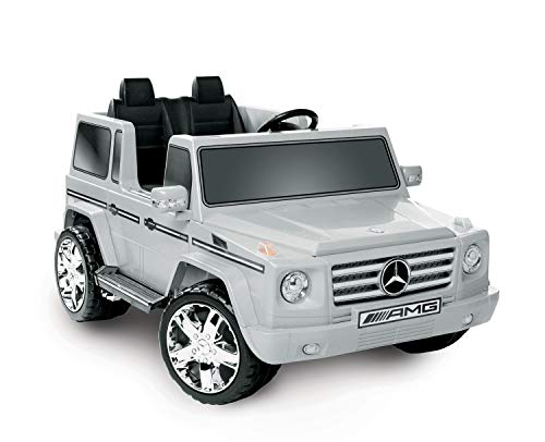 National Products LTD. Battery-Operated Silver 2-Seater Mercedes Benz G55 AMG
