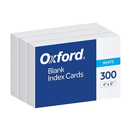 Oxford Blank Index Cards, 4' x 6', White, 300 pack (10002EE)
