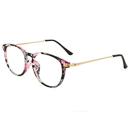 Nordic Vision Lysekil +1,50 Brille für kurzen Abstand skandinavischen Look - 22% Blaulichtfilter - Anti-Glanz-Beschichtung - Anti-Kratz - UV400 Schutz - Aufbewahrungstasche