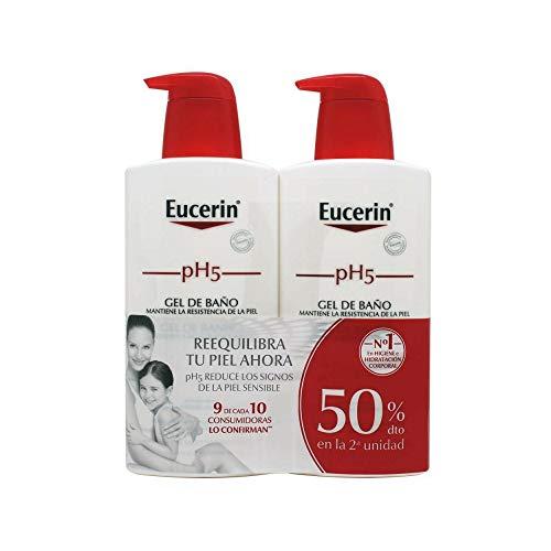 Eucerin Family Pack Ph5, Pack de Gel De Baño 1000 ml y Gel De Baño 400ml