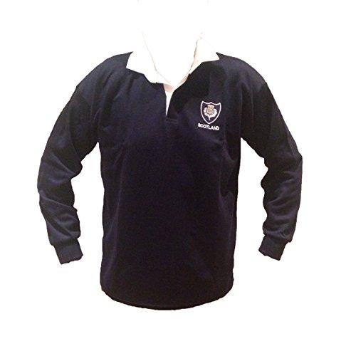 Rugby Maillot de écossais rétro Traditionnel Classique - Bleu - Moyen