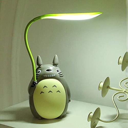 Chenyu Kawaii Cartoon Totoro Lampe Wiederaufladbare Tischlampe Led Nachtlicht Lesen für Kinder Geschenk Wohnkultur Neuheit Beleuchtung,White