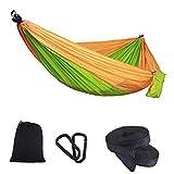 Hamac simple double de camping léger portable hamac en nylon couleur nylon parachute hamac double hamac hamac extérieur hamac camping randonnée