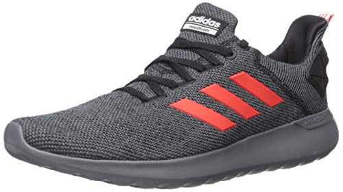 adidas Men's Lite Racer BYD Running Shoe, Grey/Active Red/Black, 8.5 M US