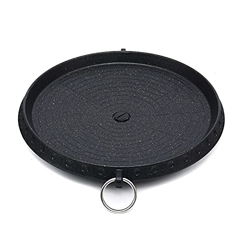 YNLRY Barbacoa al aire libre Parrilla antiadherente barbacoa redonda Pan parrillas fácilmente limpiar aluminio portátil estufa de gas Accesorios de cocina