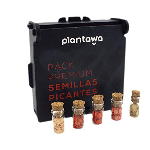 PLANTAWA Pack Premium Semillas Picantes, Semillas de Pimientos, 5 Variedades de Semillas para Huerto Urbano, Semillas Picantes Calidad Profesional