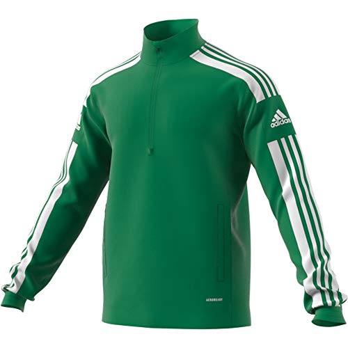 adidas SQ21 TR Top Pullover, Mens, Team Green/White, S