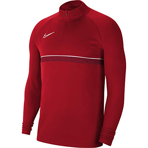 Nike Herren Dri-FIT Academy 21 Longsleeve, University Red/White/Gym Red/White, L