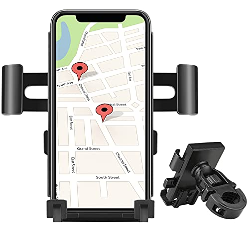 Fcslvy Soporte Movil Bicicleta, Desmontable Soporte Movil Moto Bici, 360° Rotación Porta Movil Bicicleta Accesorios Moto Compatible con iPhone 12 Pro Max/12 Mini/11 Pro MAX/XS y Otro 4-6,5 Móvil