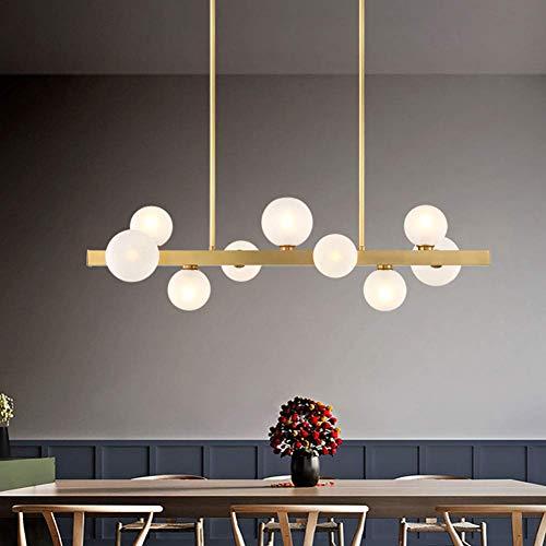 MJK Lámpara de araña, estilo francés, rústico, vintage, de metal, en bronce antiguo, para isla de cocina, color dorado