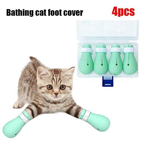 Bulary Pet Shoes Katzenfußabdeckung Anti-Kratz-Biss Katze Badetasche Pfotenschutz Pflegetasche Zum Baden Beauty Trim Pet Protection Grooming
