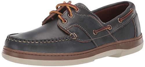 Allen Edmonds Men's Eastport Boat Shoe,Navy Rio,12 E