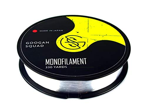 Catch Co Googan Squad Monofilament (Mono) Fishing Line Clear, 330yd (20lb)