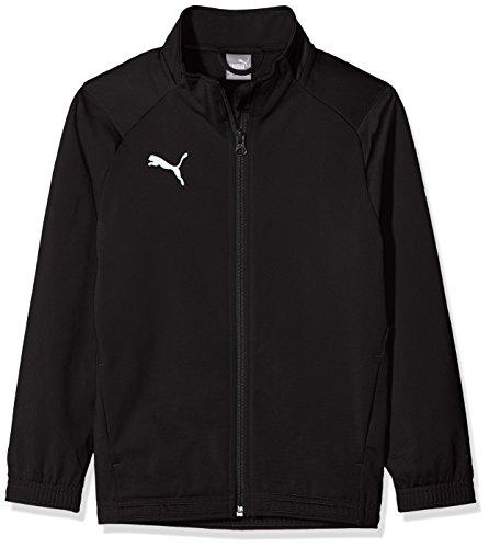 PUMA Jungen Liga Sideline Poly Jacket Core Jr Jacke, Black White, 152