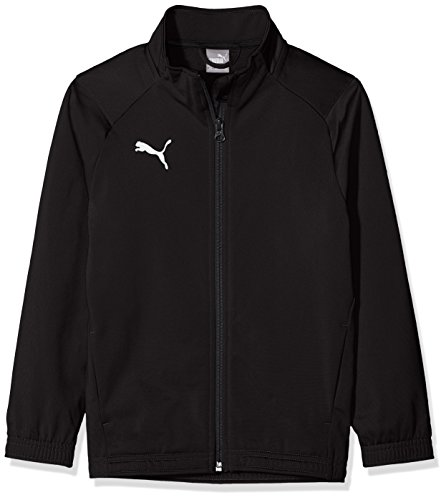 PUMA Jungen Liga Sideline Poly Jacket Core Jr Jacke, Black White, 128