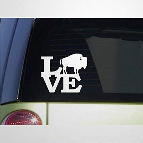 Buffalo Love Decal Bison Yellowstone Rocky Mountain Faithful Stickers Car Decal Window Decal Vinyl Decal Die Cut Decals Funny Laptop Stickers Bumper Stickers Present