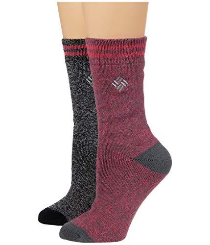 Columbia Women's Medium Weight Thermal 2 Pack Socks