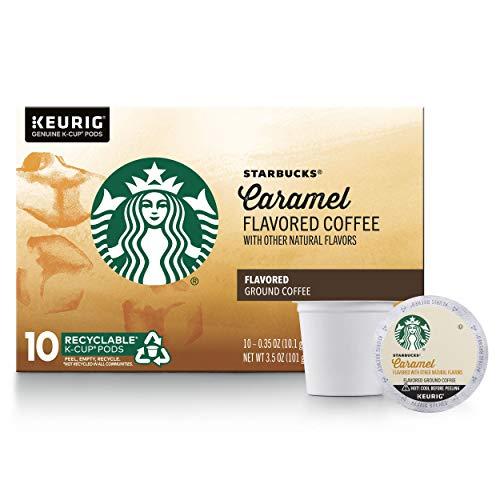 Starbucks Caramel Flavored Medium Roast Single Cup Coffee for Keurig...