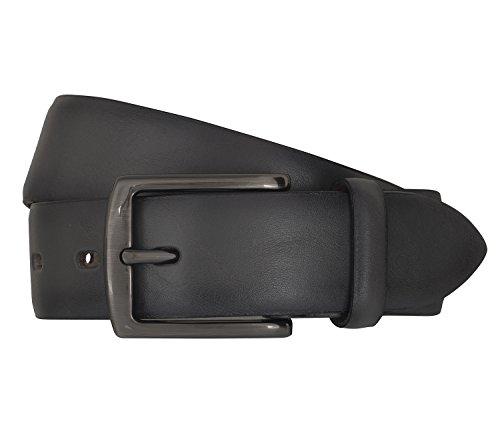 LLOYD Men's Belts Gürtel Herrengürtel Ledergürtel Grau 6838, Länge:95 cm, Farbe:Grau